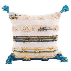Karma Living Natural Boho Tassel Throw Pillow